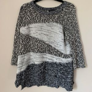 TOP SHOP GREY WOVEN SWEATER (size 6)